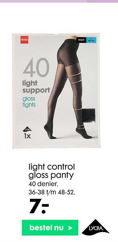 HEMA Light Control Gloss Panty