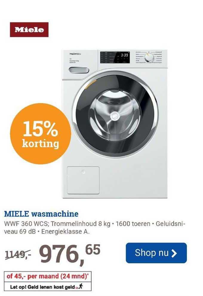 BCC Miele Wasmachine WWF 360 WCS 15% Korting