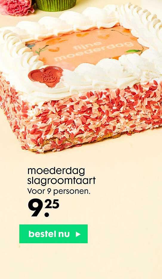 HEMA Moederdag Slagroomtaart