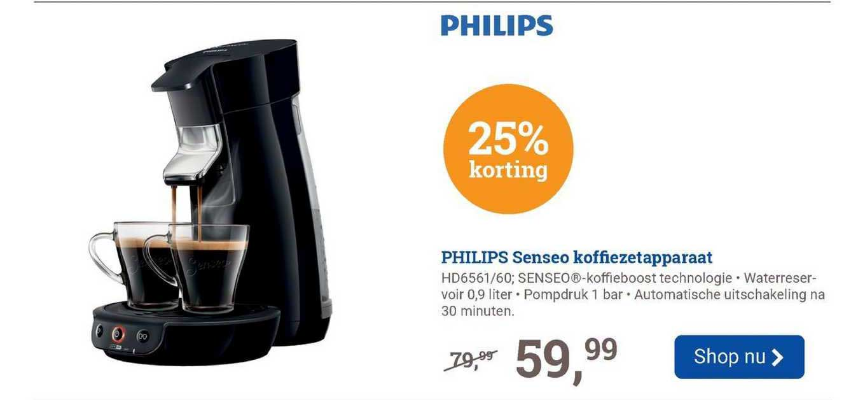 BCC Philips Senseo Koffiezetapparaat HD6561-60 25% Korting