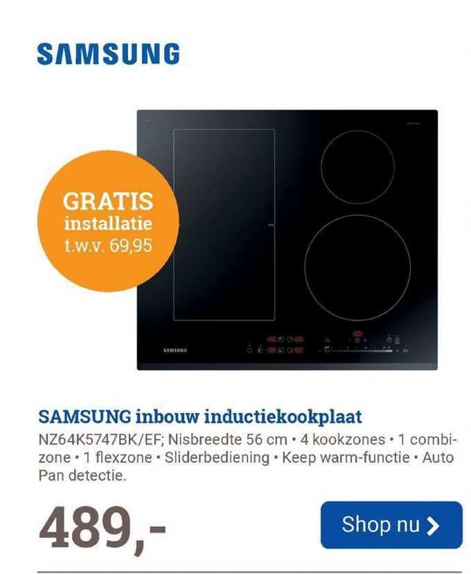BCC Samsung Inbouw Inductiekookplaat NZ64K5747BK-EF