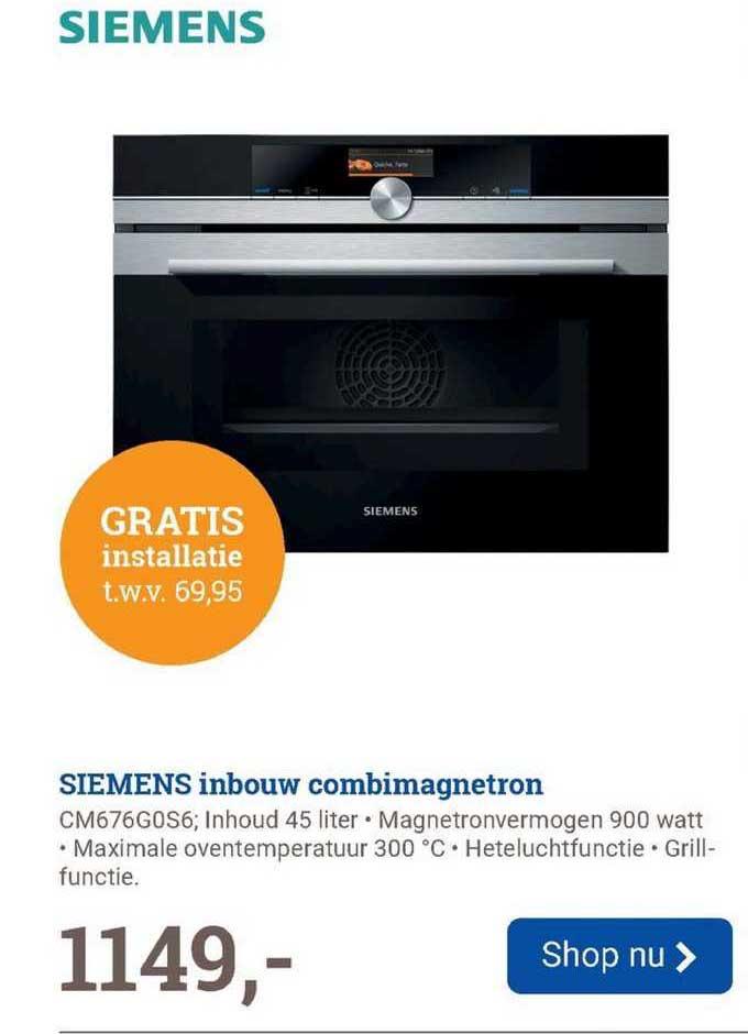 BCC Siemens Inbouw Combimagnetron CM676G0S6