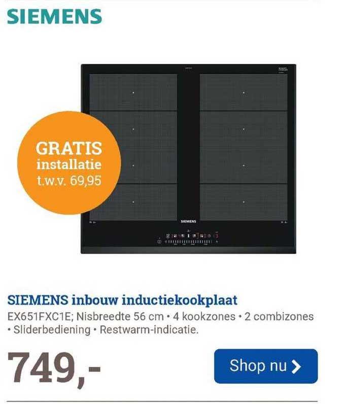 BCC Siemens Inbouw Inductiekookplaat EX651FXC1E