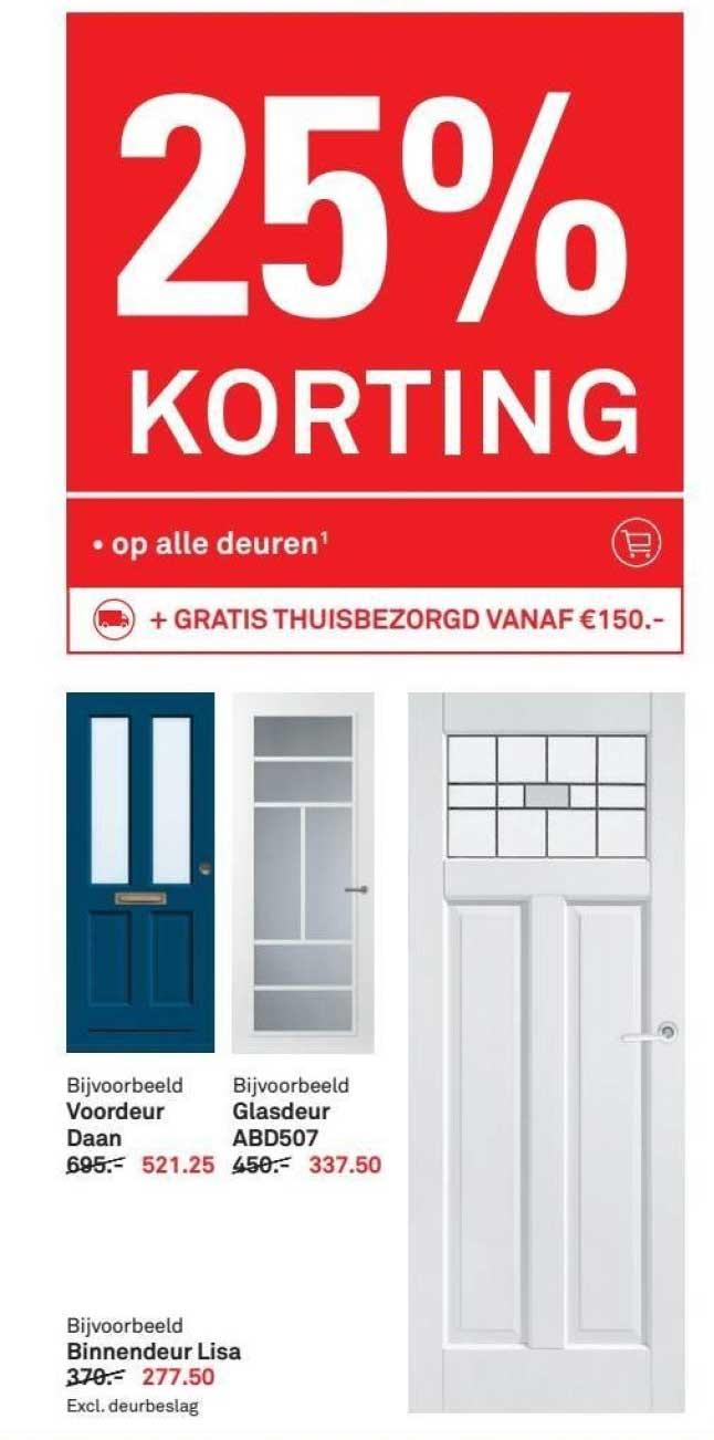 Karwei 25% Korting Op Alle Deuren