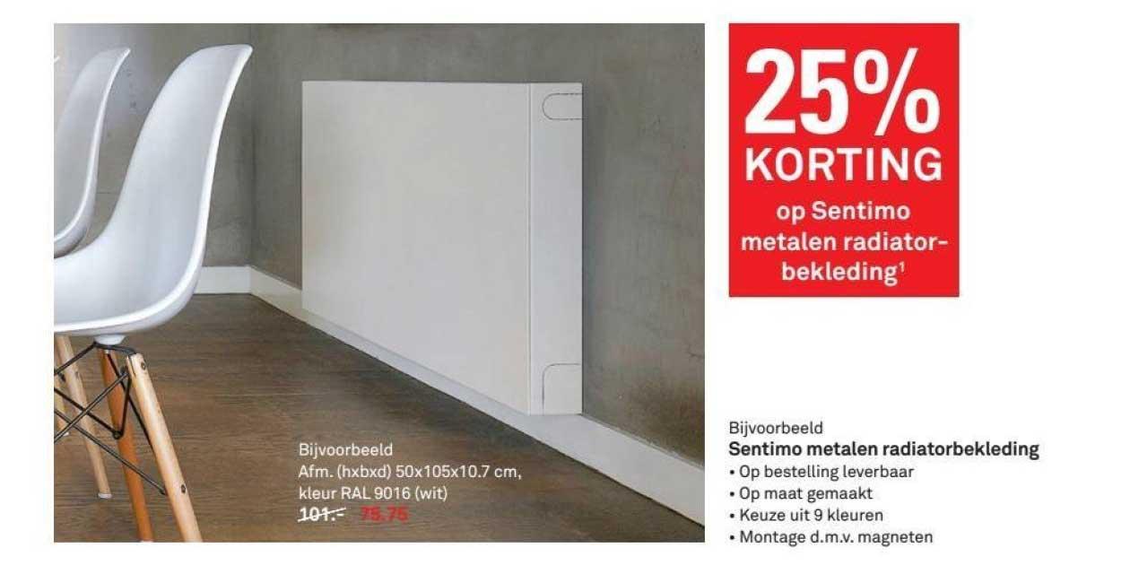 Karwei 25% Korting Op Sentimo Metalen Radiatorbekleding