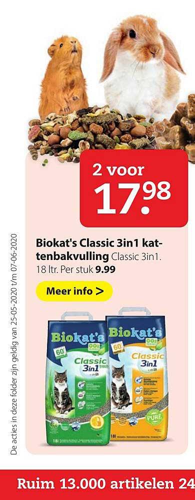 Pets Place Biokat's Classic 3in1 Kattenbakvulling