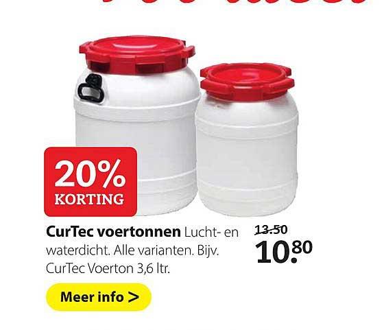 Pets Place Curtec Voertonnen: 20% Korting