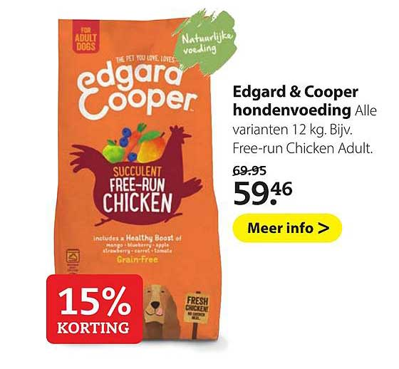 Pets Place Edgard & Cooper Hondenvoeding: 15% Korting