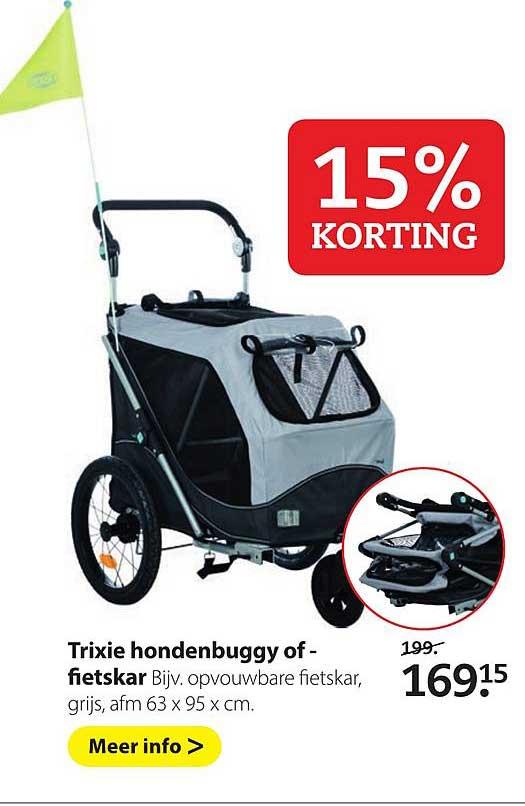 Pets Place Trixie Hondenbuggy Of Fietskar: 15% Korting