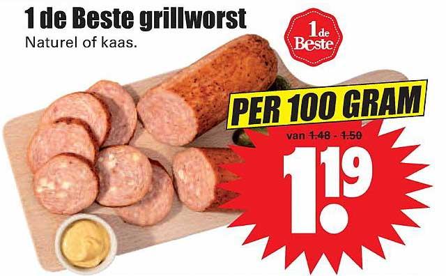 Dirk 1 De Beste Grillworst Naturel Of Kaas