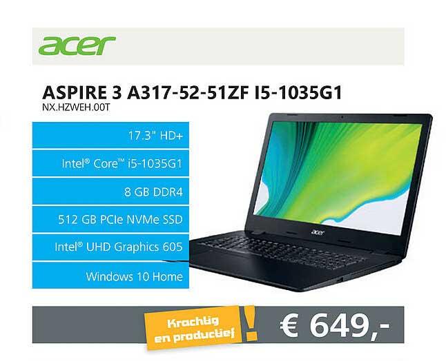 Informatique Acer Aspire 3 A317-52-51ZF I5-1035G1 NX.HZWEH.00T Laptop