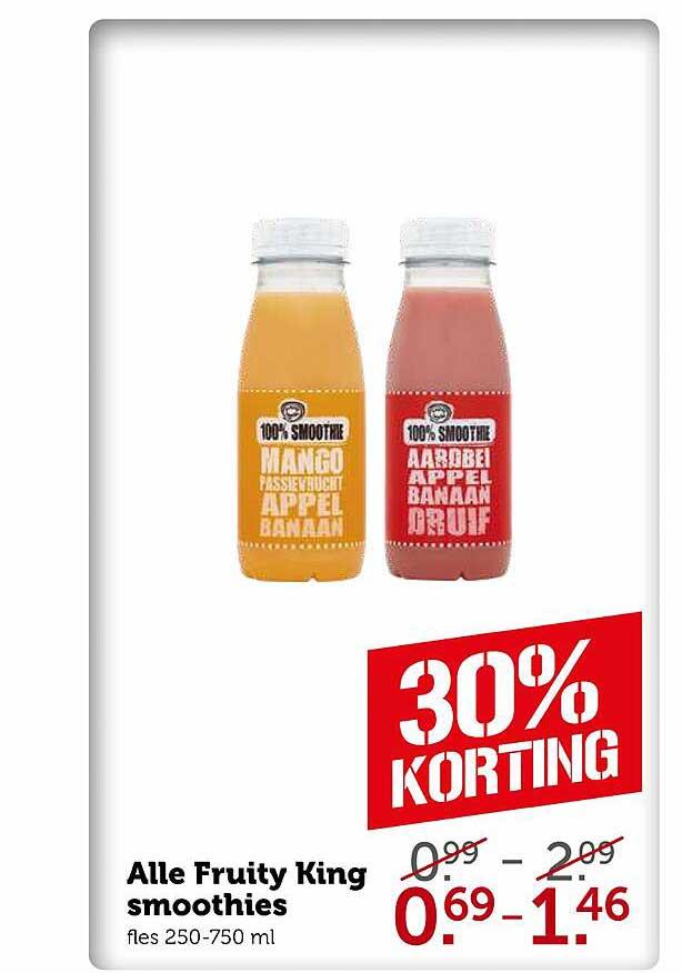 Coop Alle Fruity King Smoothies 30% Korting