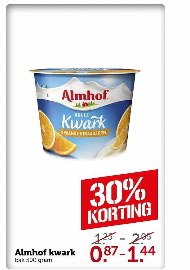 Coop Almhof Kwark 30% Korting