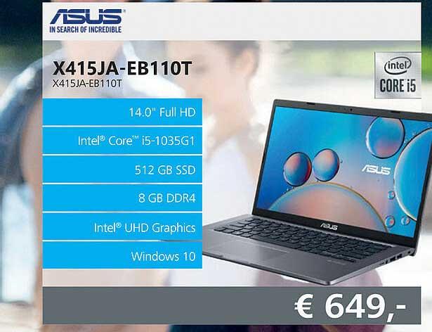 Informatique Asus X415JA-EB110T Laptop