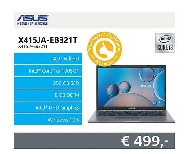 Informatique Asus X415JA-EB321T Laptop