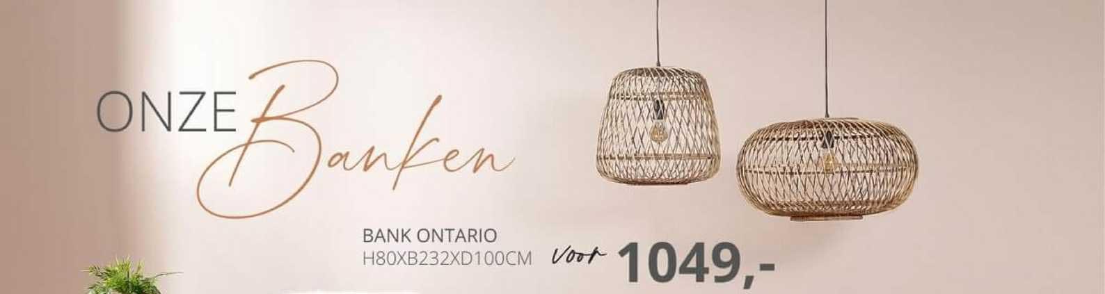 De Bommel Meubelen Bank Ontario H80xB232xD100cm