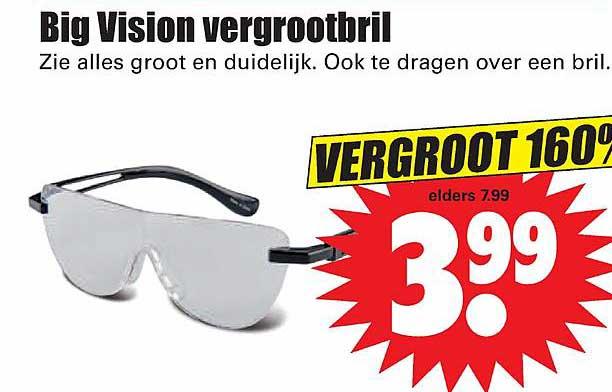 Dirk Big Vision Vergrootbril