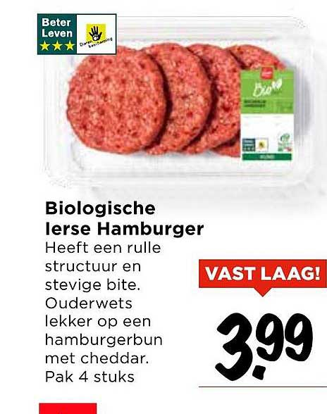 Vomar Biologische Ierse Hamburger