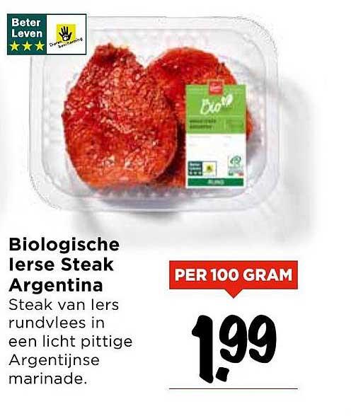 Vomar Biologische Ierse Steak Argentina
