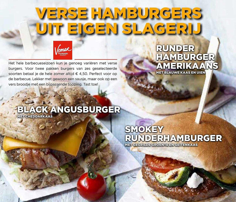 Vomar Black Angusburger, Smokey Runderhamburger Of Runderhamburger Amerikaans