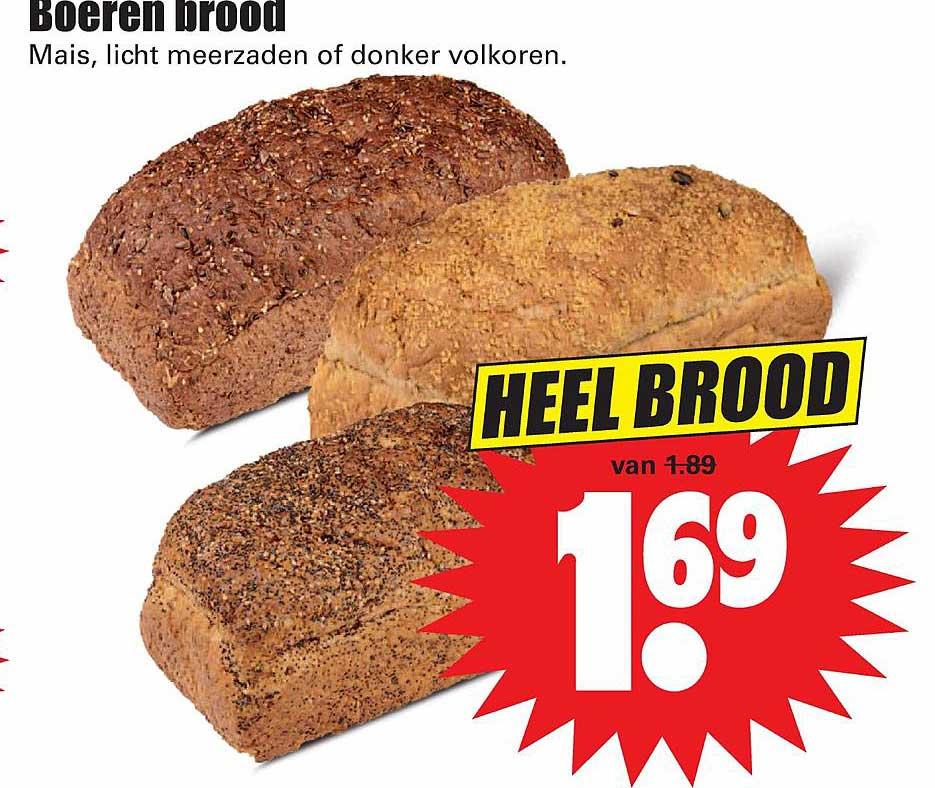 Dirk Boeren Brood Mais, Licht Meerzaden Of Donker Volkoren