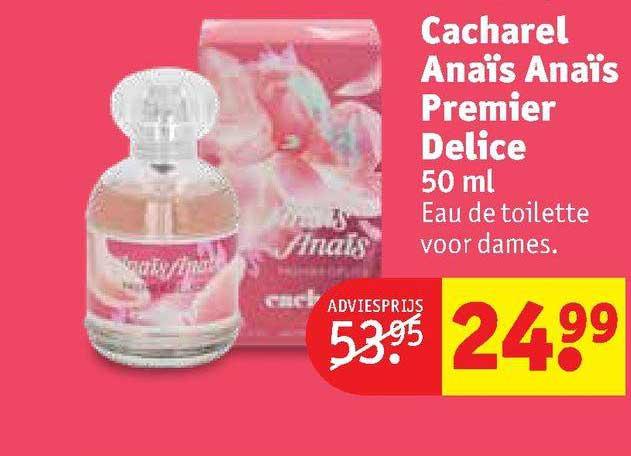 Kruidvat Cacharel Anaïs Anaïs Premier Delice 50 Ml Eau De Toilette Voor Dames