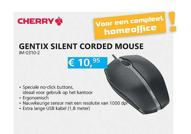 Informatique Cherry Gentix Silent Corded Mouse