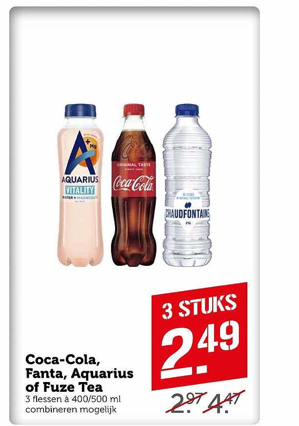 Coop Coca-Cola, Fanta, Aquarius Of Fuze Tea