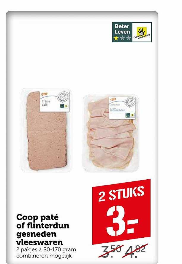 Coop Coop Paté Of Flinterdun Gesneden Vleeswaren