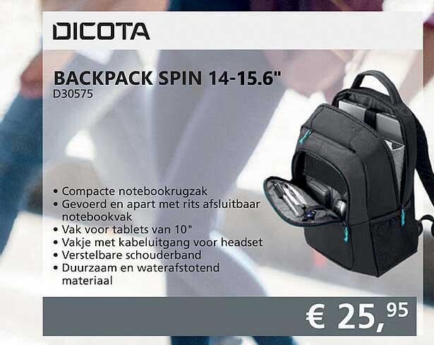 Informatique Dicota Backpack Spin 14-15.6