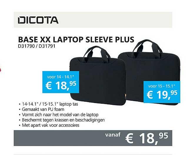 Informatique Dicota Base XX Laptop Sleeve Plus D31790 - D31791