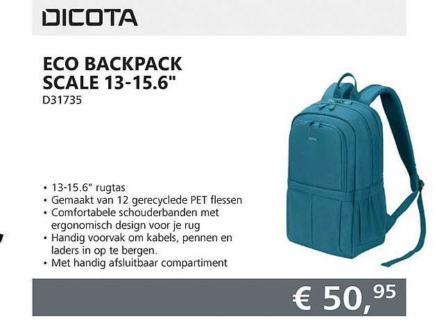 Informatique Dicota Eco Backpack Scale 13-15.6