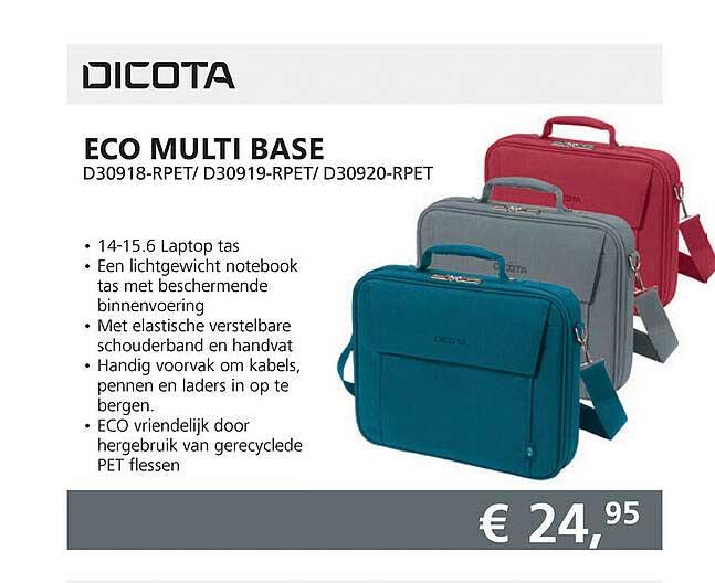 Informatique Dicota Eco Multi Base D30918-RPET- D30919-RPET- D30920-RPET