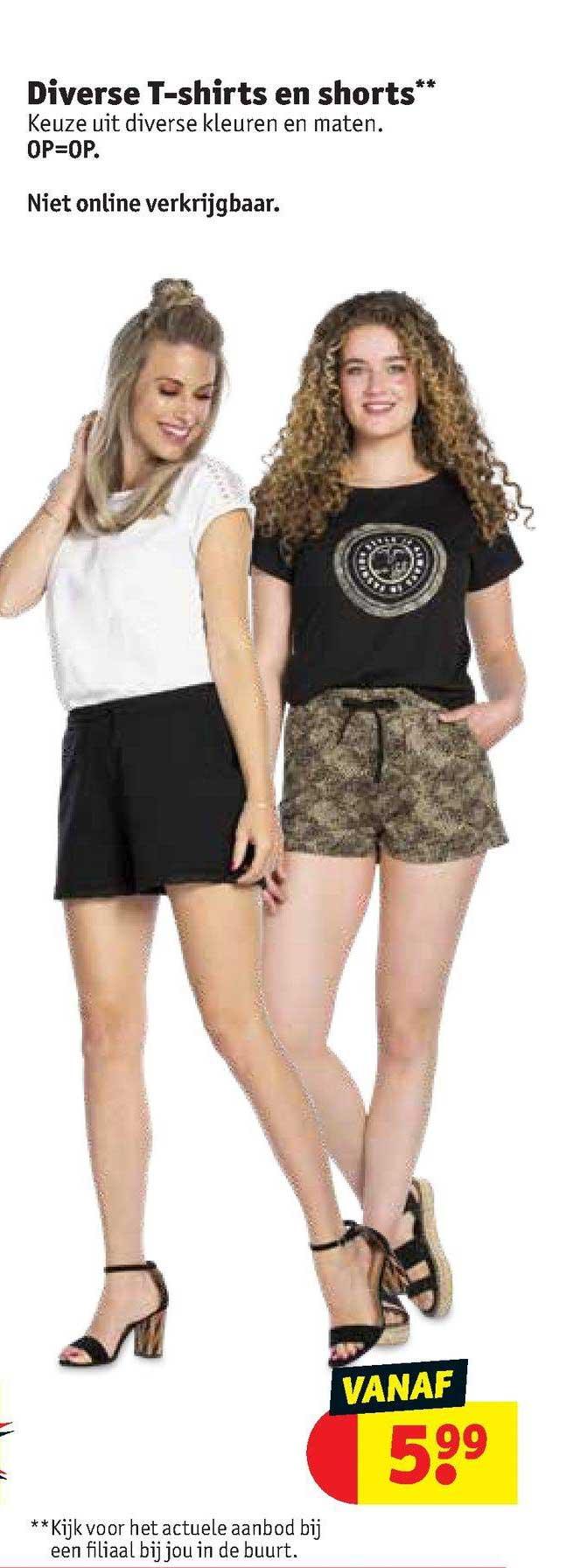Kruidvat Diverse T-Shirt En Shorts