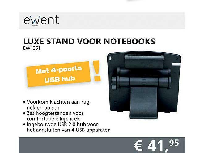 Informatique Ewent Luxe Stand Voor Notebooks EW1251