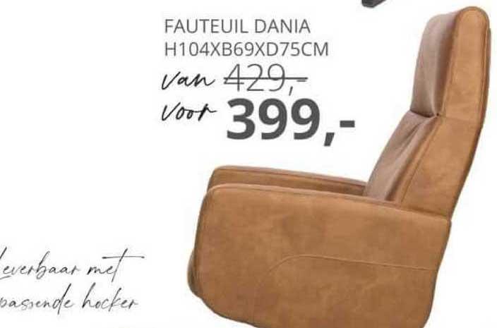De Bommel Meubelen Fauteuil Dania H104xB69xD75cm