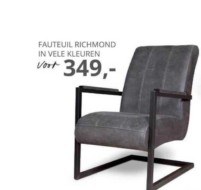 De Bommel Meubelen Fauteuil Richmond In Vele Kleuren