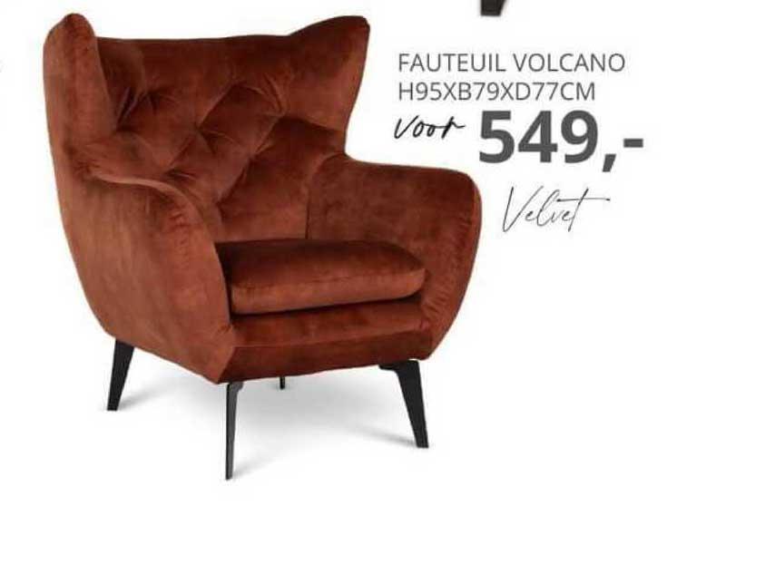 De Bommel Meubelen Fauteuil Volcano H95xB79xD77cm