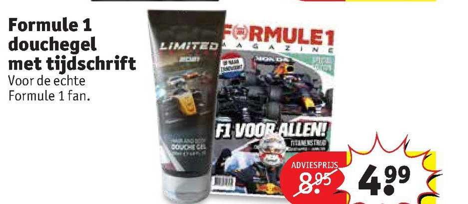 Kruidvat Formule 1 Douchegel Met Tijdschrift
