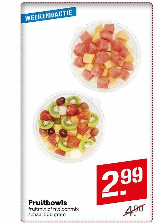Coop Fruitbowls Fruitmix Of Meloenmix