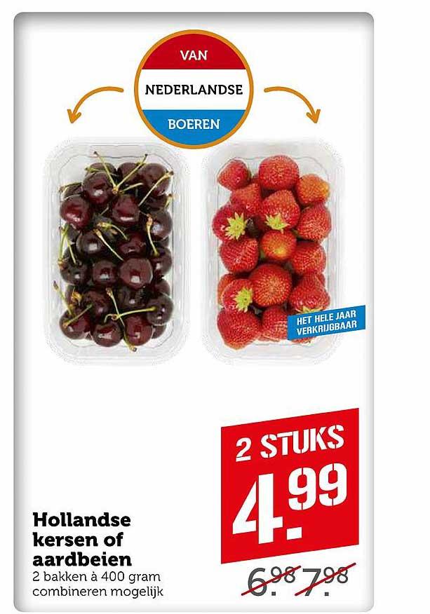 Coop Hollandse Kersen Of Aardbeien