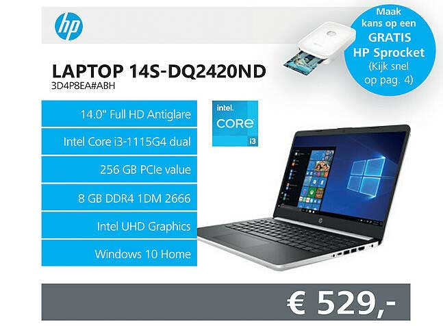 Informatique HP Laptop 14S-DQ2420ND 3D4P8EA#ABH