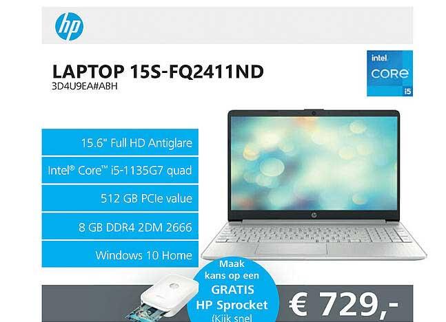 Informatique HP Laptop 15S-FQ2411ND 3D4U9EA#ABH