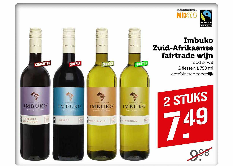Coop Imbuko Zuid-Afrikaanse Fairtrade Wijn