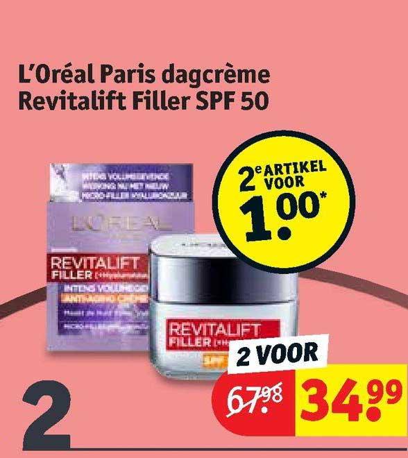 Kruidvat L'Oréal Paris Dagcrème Revitalift Filler SPF 50