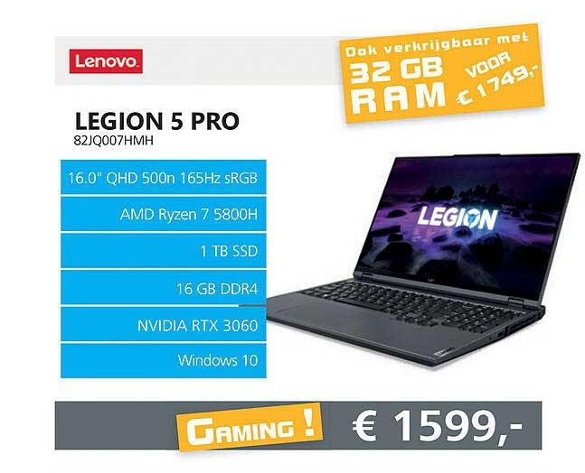 Informatique Lenovo Legion 5 PRO 82JQ007HMH Laptop