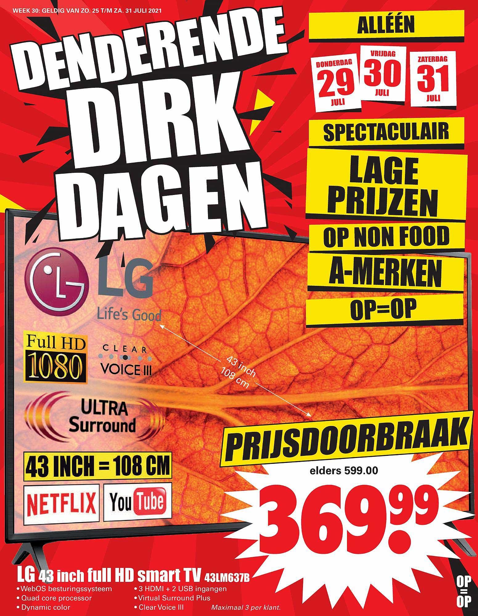 Dirk LG 43 Inch Full HD Smart TV 43LM637B