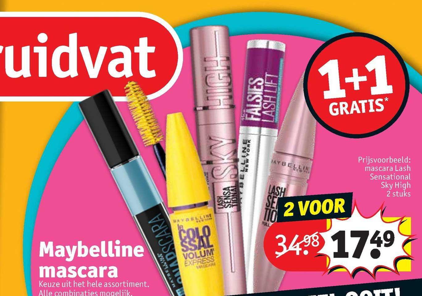 Kruidvat Maybelline Mascara 1+1 Gratis