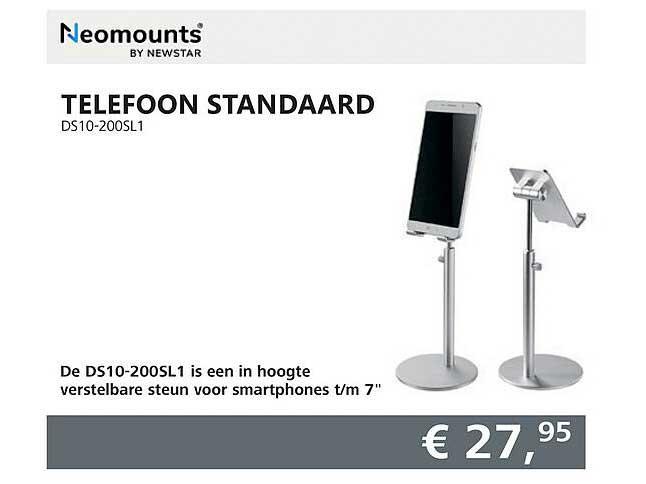 Informatique Neomounts Telefoon Standaard DS10-200SL1
