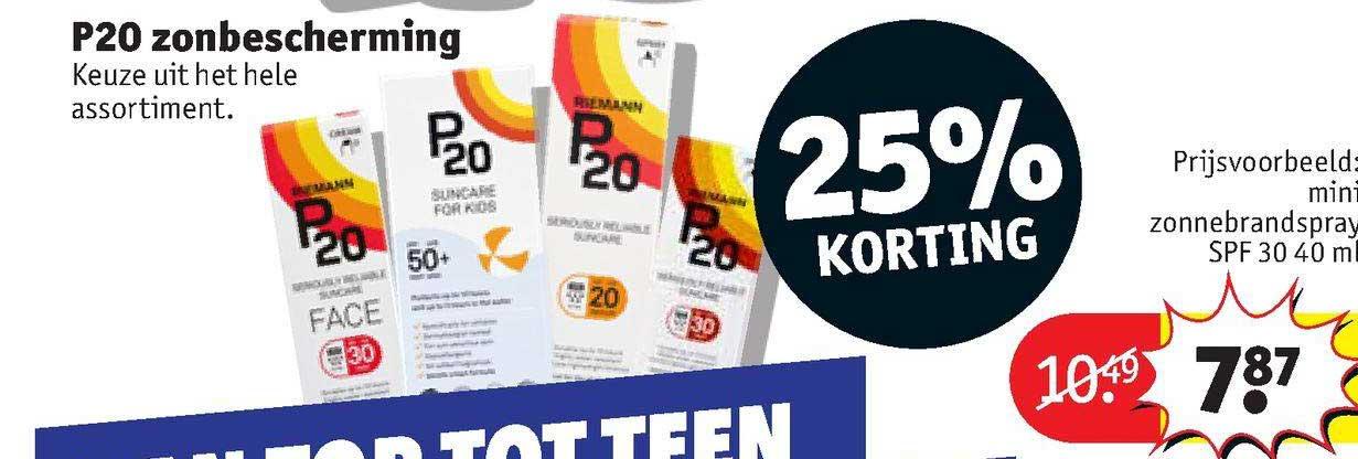 Kruidvat P20 Zonbescherming 25% Korting